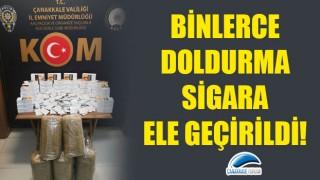 Binlerce doldurma sigara ele geçirildi!