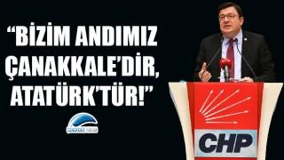 """CHP'li Erkek: """"Bizim andımız Çanakkale'dir, Atatürk'tür!"""""""