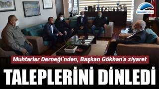 Muhtarlar Derneği'nden, Başkan Gökhan'a ziyaret