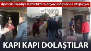 Ayvacık Belediyesi iftarlıkları ihtiyaç sahiplerine ulaştırıyor