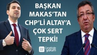 """Başkan Makas'tan, CHP'li Altay'a çok sert tepki: """"İktidar uğruna darbelerden medet uman zihniyet, karanlık yüzünü bir kez daha göstermiştir!"""""""