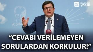 """CHP'li Erkek: """"Cevabı verilemeyen sorulardan korkulur!"""""""