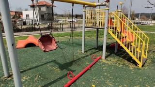 Yenice'de çocuk parkına çirkin saldırı!