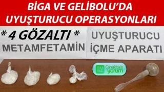 Biga ve Gelibolu'da uyuşturucu operasyonları: 4 gözaltı