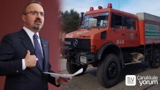 Bülent Turan devreye girdi, Bozcaada Belediyesi'ne arazöz tahsis edildi