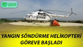 Çanakkale'de yangın söndürme helikopteri göreve başladı