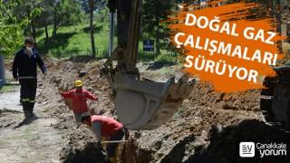 Lapseki'de doğal gaz çalışmaları sürüyor