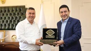 Başkan Bayram'dan, Harran Belediyesi'ne ziyaret