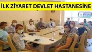 Baştürk'ten ilk ziyaret devlet hastanesine