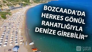 Bozcaadalı işletmecilerden 'denizlerimiz temiz' mesajı