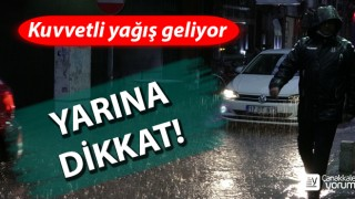 Çanakkale için kuvvetli yağış uyarısı!