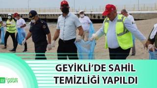 Geyikli'de sahil temizliği yapıldı