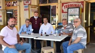 Başkan Öz'den terminal esnafına ziyaret