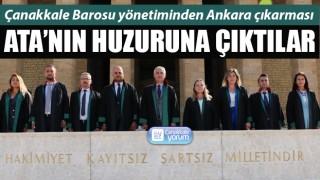 Çanakkale Barosu yönetiminden Ankara çıkarması