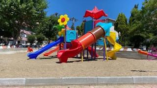 Çan'da parklar yenilendi