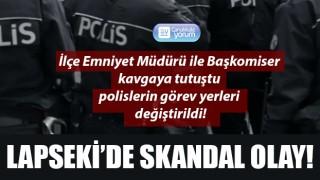 Lapseki'de skandal olay: Emniyet Müdürü ile Başkomiser kavgaya tutuştu, polislerin görev yerleri değiştirildi!
