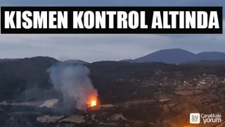 Sarıbeyli köyündeki yangın kısmen kontrol altında
