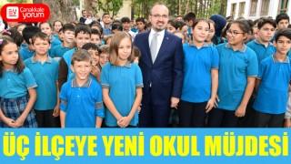 Bülent Turan'dan üç ilçeye yeni okul müjdesi
