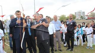 Çan Belediyesi okçuluk sahası açıldı