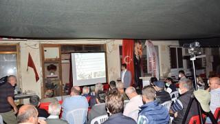 Lapseki'de çiftçilere, bitki koruma ve uygulama belgesi verildi