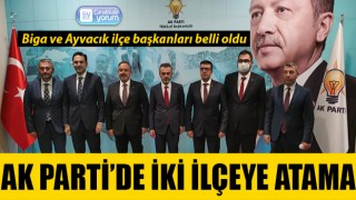 AK Parti'de iki ilçeye atama: Biga ve Ayvacık ilçe başkanları belli oldu