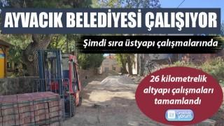 Ayvacık Belediyesi 26 kilometrelik altyapı çalışmalarını tamamladı