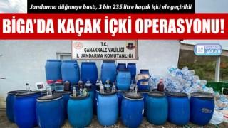 Biga'da kaçak içki operasyonu!