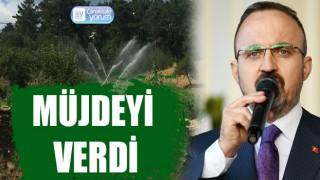 Bülent Turan, sulama projesinin ihale edildiği müjdesini verdi