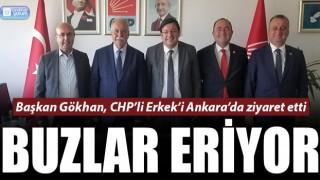 Buzlar eriyor: Başkan Gökhan'dan, CHP'li Erkek'e ziyaret