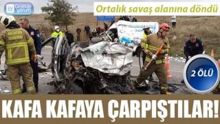 Çanakkale yolunda feci kaza: 2 ölü