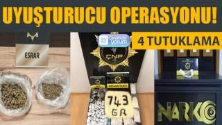 Çanakkale'de uyuşturucu operasyonu: 4 tutuklama