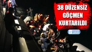 Eceabat açıklarında 38 düzensiz göçmen kurtarıldı