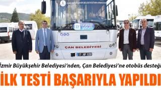 İzmir BŞB'den, Çan Belediyesi'ne otobüs desteği