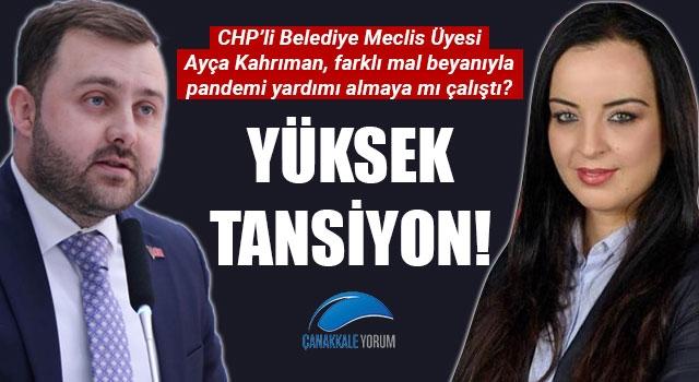 Ezine Belediye Meclis Toplantısında yüksek tansiyon: CHP'li Kahrıman farklı mal beyanıyla pandemi yardımı almaya mı çalıştı?