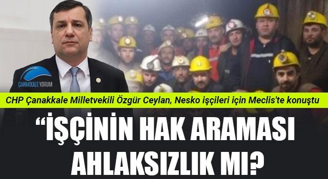 """Özgür Ceylan: """"İşçinin hak araması ahlaksızlık mı?"""""""