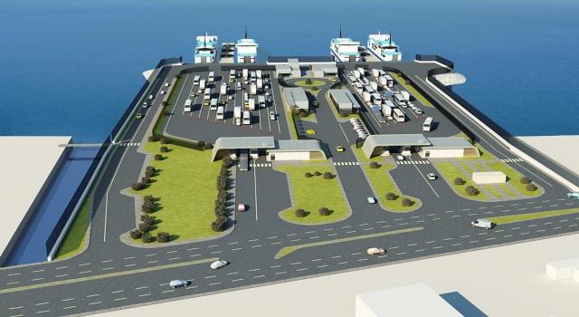 Gelibolu Yeni Feribot Terminali yapım çalışmaları sürüyor