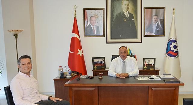Banka şube müdüründen, Başkan Semizoğlu'na ziyaret