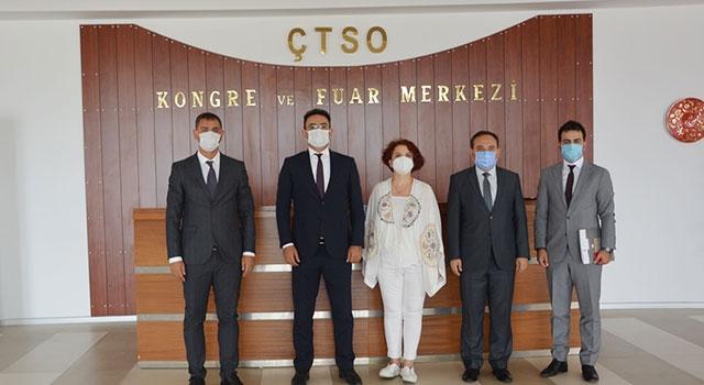 ÇTSO'ya bakanlık düzeyinde ziyaret: Madencilik sektöründeki çalışma koşullarını görüştüler
