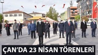 Çan'da 23 Nisan törenleri