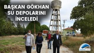 Başkan Gökhan su depolarını inceledi