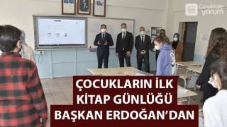Çocukların ilk Kitap Günlüğü Başkan Erdoğan'dan