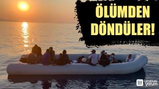 Ayvacık'ta 17 düzensiz göçmen kurtarıldı