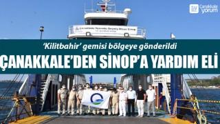 Çanakkale'den Sinop'a yardım eli: 'Kilitbahir' gemisi bölgeye gönderildi